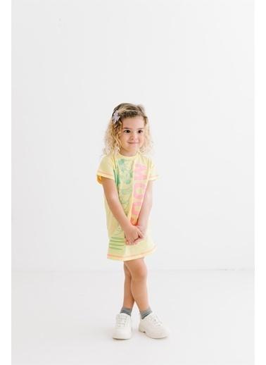 Minnie Mouse Lisanslı Çocuk Elbise 17464 Sarı